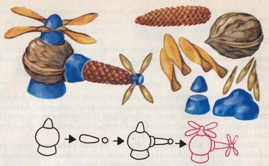 Поделка из природного материала фото схема